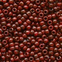 Toho 11/0 Seed Beads, Pepper Red Picasso Y304 - 10 grams